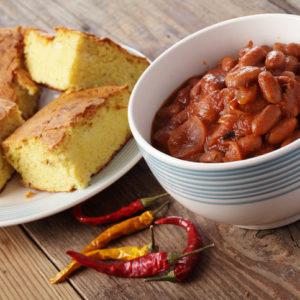 Rustic Farm to Fork-Bean Chili with Cornbread