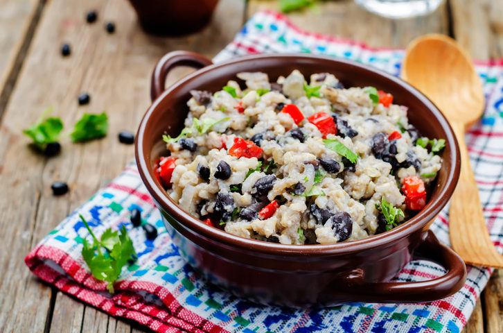 Rustic Farm to Fork-Brown Rice with Black Beans and Avacado