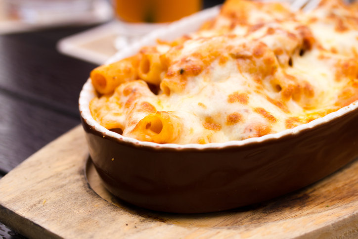 Rustic Farm to Fork-Cheese Rigatoni Bake