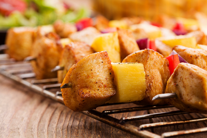 Rustic Farm to Fork-Hawaiian Chicken Skewers