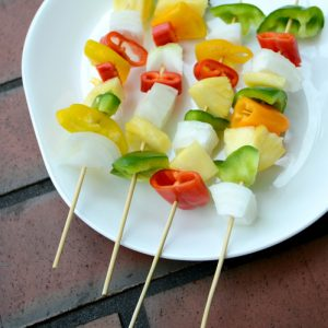 Rustic Farm to Fork-Hawaiian Vegetable Skewers