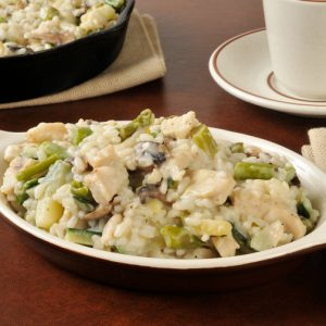 Rustic Farm to Fork-Chicken rice casserole